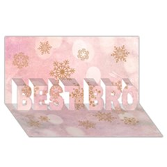 Winter Bokeh Pink BEST BRO 3D Greeting Card (8x4)