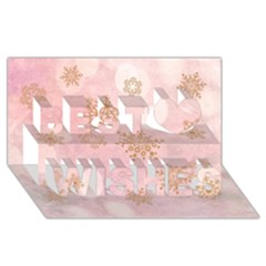 Winter Bokeh Pink Best Wish 3d Greeting Card (8x4)