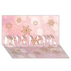 Winter Bokeh Pink ENGAGED 3D Greeting Card (8x4)