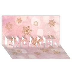 Winter Bokeh Pink Engaged 3d Greeting Card (8x4)