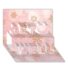 Winter Bokeh Pink Get Well 3D Greeting Card (7x5)
