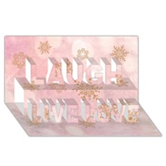 Winter Bokeh Pink Laugh Live Love 3D Greeting Card (8x4)