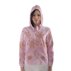 Winter Bokeh Pink Hooded Wind Breaker (women)