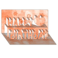 Winter Bokeh Red Happy Birthday 3D Greeting Card (8x4)
