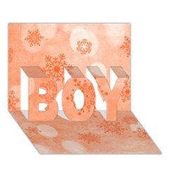 Winter Bokeh Red Boy 3d Greeting Card (7x5)