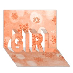 Winter Bokeh Red Girl 3d Greeting Card (7x5)