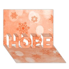 Winter Bokeh Red Hope 3d Greeting Card (7x5)