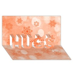 Winter Bokeh Red HUGS 3D Greeting Card (8x4)