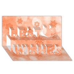 Winter Bokeh Red Best Wish 3d Greeting Card (8x4)