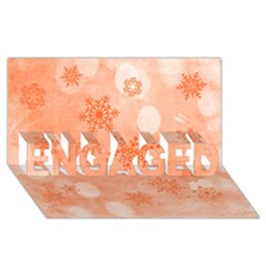 Winter Bokeh Red ENGAGED 3D Greeting Card (8x4)