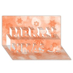 Winter Bokeh Red Merry Xmas 3d Greeting Card (8x4)