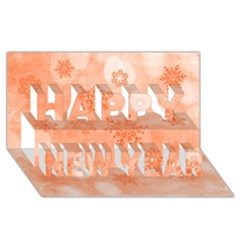 Winter Bokeh Red Happy New Year 3d Greeting Card (8x4)