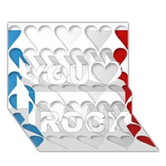 France Hearts Flag You Rock 3d Greeting Card (7x5)