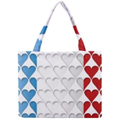 France Hearts Flag Tiny Tote Bags