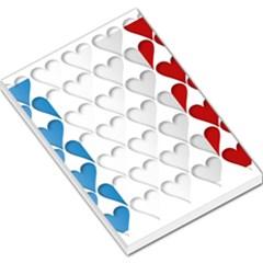 France Hearts Flag Large Memo Pads