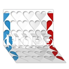 France Hearts Flag Hope 3d Greeting Card (7x5)