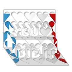 France Hearts Flag You Did It 3D Greeting Card (7x5)