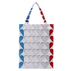 France Hearts Flag Classic Tote Bags