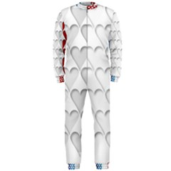 France Hearts Flag OnePiece Jumpsuit (Men)