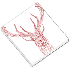 Modern red geometric christmas deer illustration Small Memo Pads