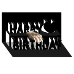 Half Moon Happy Birthday 3D Greeting Card (8x4)