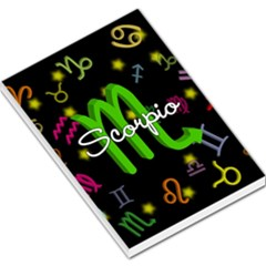 Scorpio Floating Zodiac Name Large Memo Pads