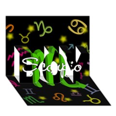 Scorpio Floating Zodiac Name BOY 3D Greeting Card (7x5)
