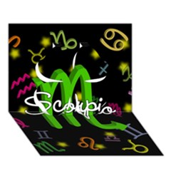 Scorpio Floating Zodiac Name Clover 3D Greeting Card (7x5)