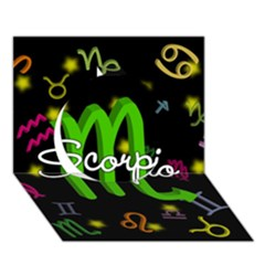 Scorpio Floating Zodiac Name Circle 3d Greeting Card (7x5)