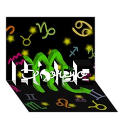 Scorpio Floating Zodiac Name HOPE 3D Greeting Card (7x5)