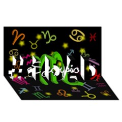 Scorpio Floating Zodiac Name #1 Dad 3d Greeting Card (8x4)
