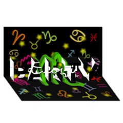 Scorpio Floating Zodiac Name PARTY 3D Greeting Card (8x4)