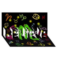Scorpio Floating Zodiac Name BELIEVE 3D Greeting Card (8x4)