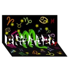 Scorpio Floating Zodiac Name Engaged 3d Greeting Card (8x4)