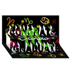 Scorpio Floating Zodiac Name Congrats Graduate 3D Greeting Card (8x4)