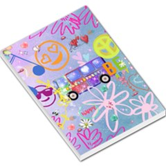 Summer Of Love   The 60s Large Memo Pads