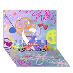 Summer Of Love   The 60s Ribbon 3D Greeting Card (7x5)