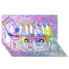 Summer Of Love   The 60s Laugh Live Love 3d Greeting Card (8x4)