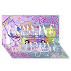 Summer Of Love   The 60s Congrats Graduate 3d Greeting Card (8x4)