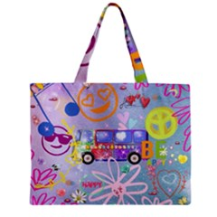 Summer Of Love   The 60s Zipper Tiny Tote Bags