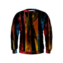 Colorful Space Needle Boys  Sweatshirts