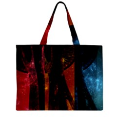 Colorful Space Needle Zipper Tiny Tote Bags