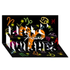 Aries Floating Zodiac Sign Best Wish 3D Greeting Card (8x4)