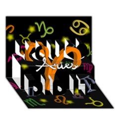 Aries Floating Zodiac Sign You Did It 3d Greeting Card (7x5)