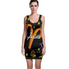 Aries Floating Zodiac Sign Bodycon Dresses