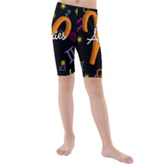 Aries Floating Zodiac Sign Kid s swimwear