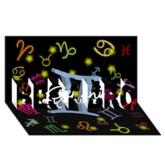 Gemini Floating Zodiac Sign BEST BRO 3D Greeting Card (8x4)