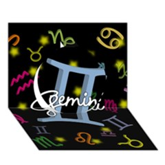 Gemini Floating Zodiac Sign Circle 3D Greeting Card (7x5)