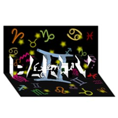 Gemini Floating Zodiac Sign PARTY 3D Greeting Card (8x4)