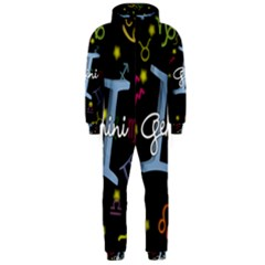 Gemini Floating Zodiac Sign Hooded Jumpsuit (Men)